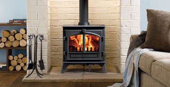 A firewood stove