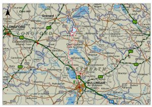Coole Wind Farm grid connection map