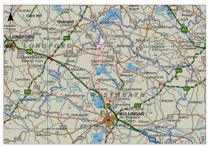 Coole Wind Farm grid connection map